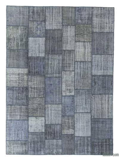 Over-dyed Turkish Patchwork Rug - 8'4'' x 11'7'' (100 in. x 139 in.)