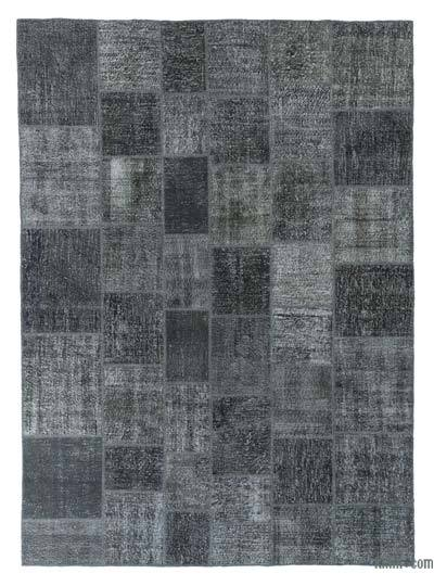 Grey Over-dyed Turkish Patchwork Rug - 8'3'' x 11'7'' (99 in. x 139 in.)