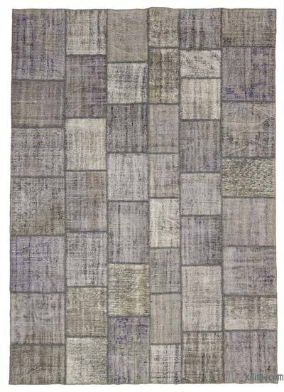 "Over-dyed Turkish Patchwork Rug - 8'3"" x 11'7"" (99 in. x 139 in.)"