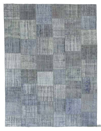 Over-dyed Turkish Patchwork Rug - 9'11'' x 13'2'' (119 in. x 158 in.)