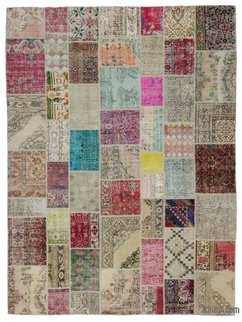 K0018750 Multicolor Turkish Patchwork Rug 9 9 X 13 1