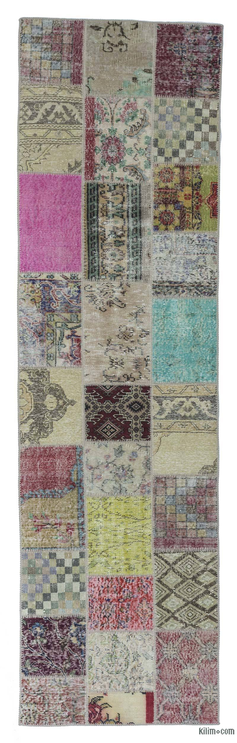 K0018759 Multicolor Turkish Patchwork Runner Rug 2 10 Quot X
