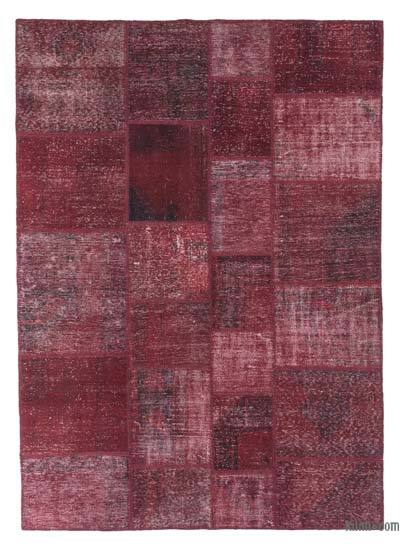 "Over-dyed Turkish Patchwork Rug - 5'10"" x 8'1"" (70 in. x 97 in.)"