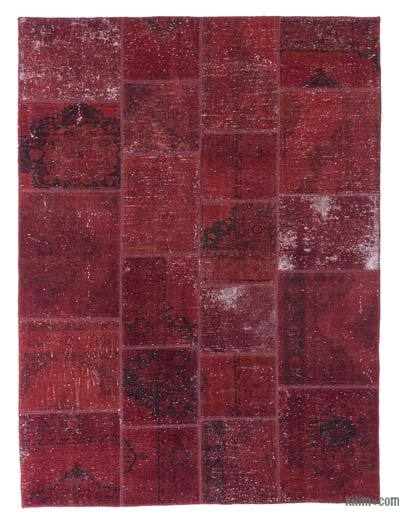Over-dyed Turkish Patchwork Rug - 6' x 8' (72 in. x 96 in.)