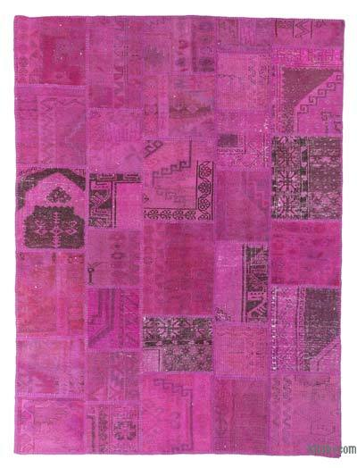 "Over-dyed Turkish Patchwork Rug - 5'10"" x 7'10"" (70 in. x 94 in.)"