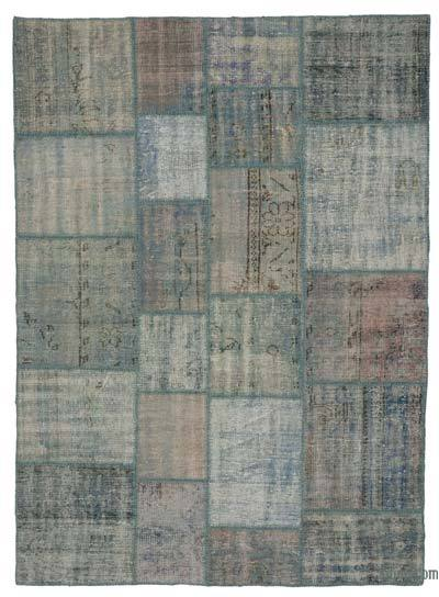 "Over-dyed Turkish Patchwork Rug - 5'9"" x 7'10"" (69 in. x 94 in.)"
