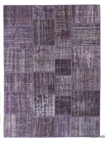 Over-dyed Turkish Patchwork Rug - 5'9'' x 7'11'' (69 in. x 95 in.)