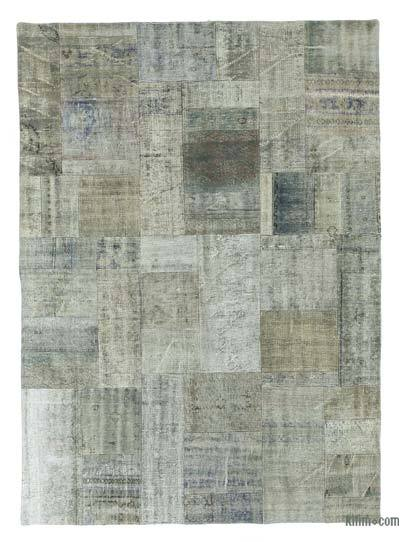 "Over-dyed Turkish Patchwork Rug - 5'8"" x 7'10"" (68 in. x 94 in.)"