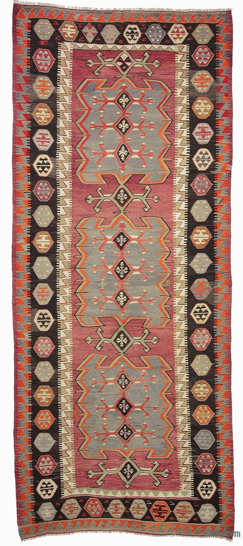 K0018835 Red Vintage Konya Kilim Rug 4 11 Quot X 12 2 Quot 59