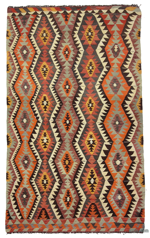 Multicolor Vintage Mut Kilim Rug