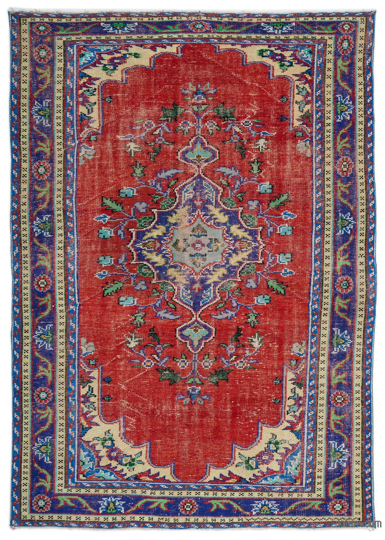 Large Size Vintage Carpets Kilim Rugs Overdyed Vintage