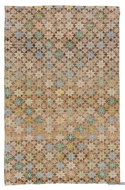 "Turkish Vintage Area Rug - 5'4"" x 8'4"" (64 in. x 100 in.)"