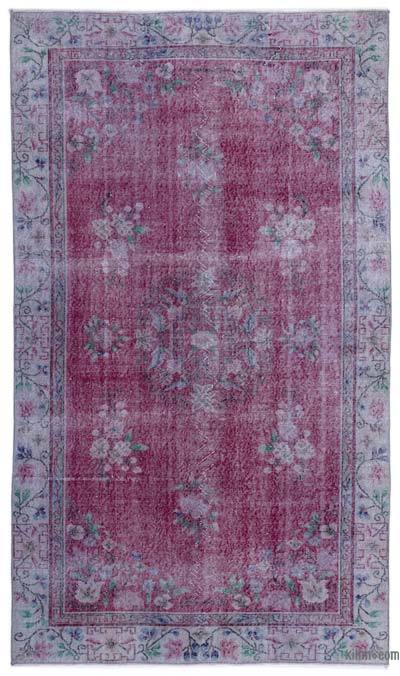 Turkish Vintage Area Rug - 5'7'' x 9'6'' (67 in. x 114 in.)