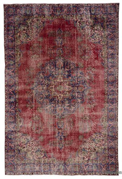 Turkish Vintage Area Rug - 6'8'' x 10'2'' (80 in. x 122 in.)