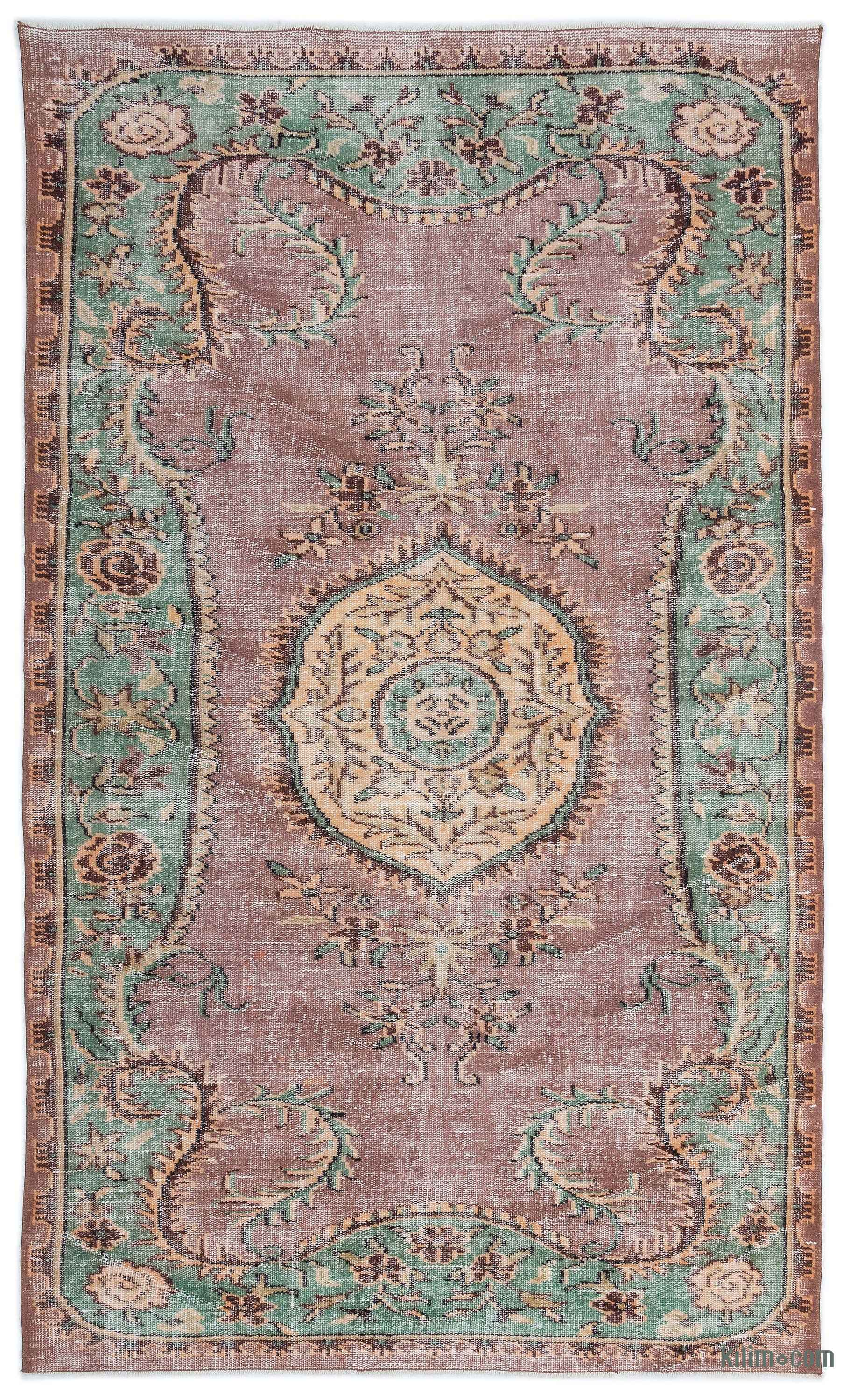 K0019165 Turkish Vintage Rug 5 5 X 8 10 65 In X