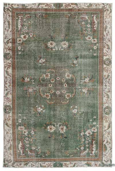 "Turkish Vintage Area Rug - 6'7"" x 9'9"" (79 in. x 117 in.)"