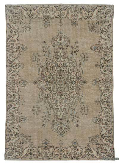 Turkish Vintage Area Rug - 6'7'' x 9'4'' (79 in. x 112 in.)