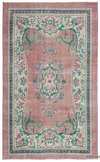 Turkish Vintage Area Rug - 5'11'' x 9'10'' (71 in. x 118 in.)