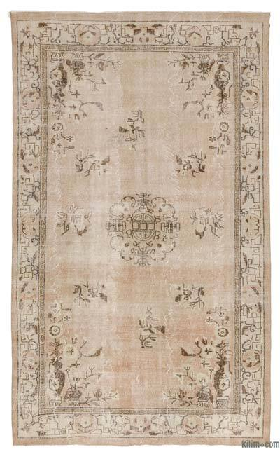 Turkish Vintage Area Rug - 5'7'' x 9'5'' (67 in. x 113 in.)