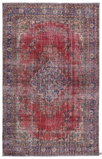 "Turkish Vintage Area Rug - 6'5"" x 10'4"" (77 in. x 124 in.)"