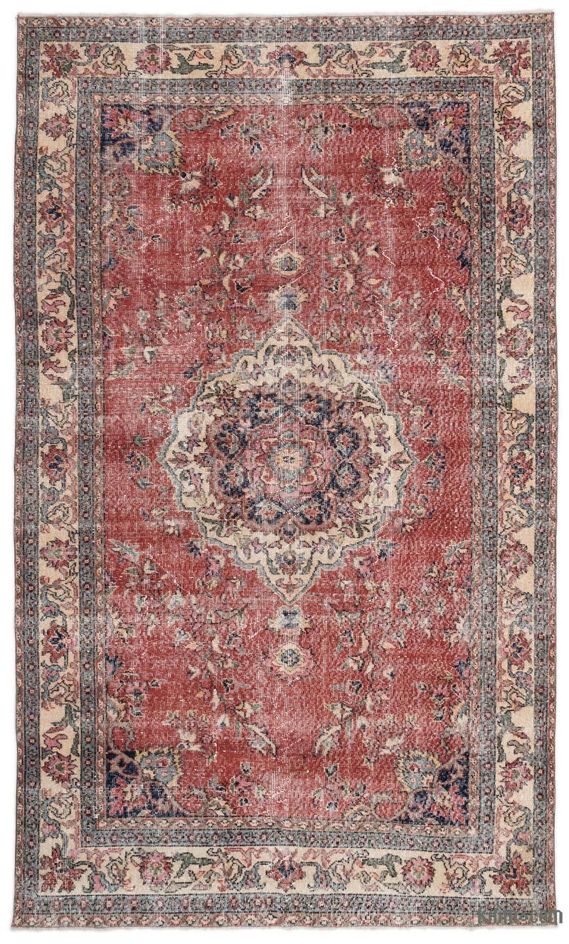 K0019452 Turkish Vintage Rug 5 9 X 9 7 69 In X 115