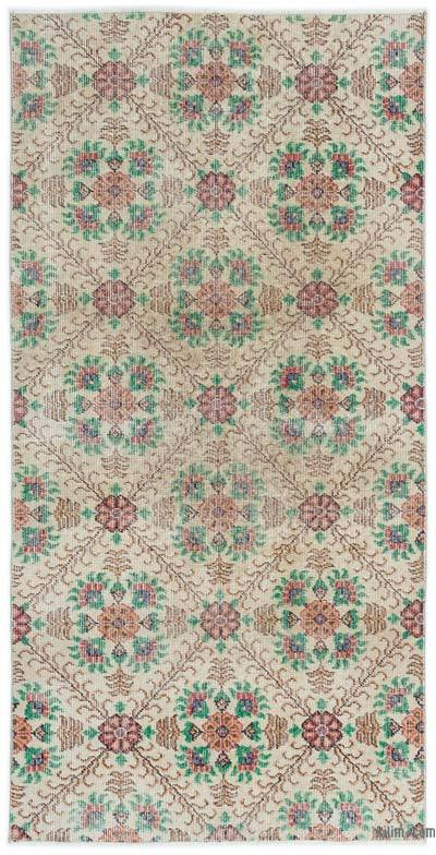 Turkish Vintage Area Rug - 3'3'' x 6'7'' (39 in. x 79 in.)