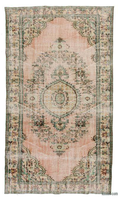 "Turkish Vintage Area Rug - 5'4"" x 9'4"" (64 in. x 112 in.)"