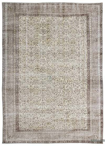 "Over-dyed Turkish Vintage Rug - 6'10"" x 9'7"" (82 in. x 115 in.)"