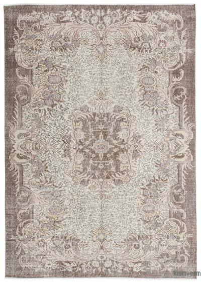 Over-dyed Turkish Vintage Rug - 6' x 8'5'' (72 in. x 101 in.)