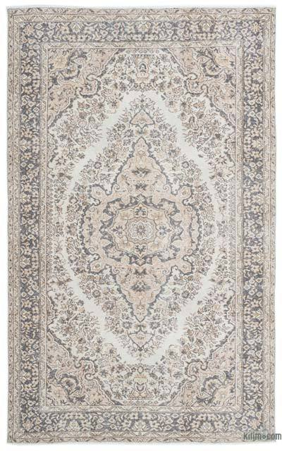 Beige Turkish Vintage Rug - 5'6'' x 8'10'' (66 in. x 106 in.)