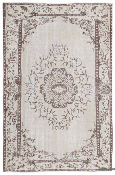 Over-dyed Turkish Vintage Rug - 5'11'' x 9'1'' (71 in. x 109 in.)