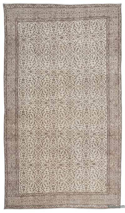 "Over-dyed Turkish Vintage Rug - 5'4"" x 9'2"" (64 in. x 110 in.)"