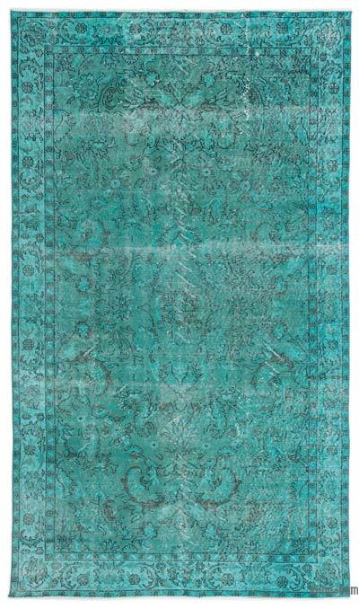 "Over-dyed Turkish Vintage Rug - 5'5"" x 9'3"" (65 in. x 111 in.)"