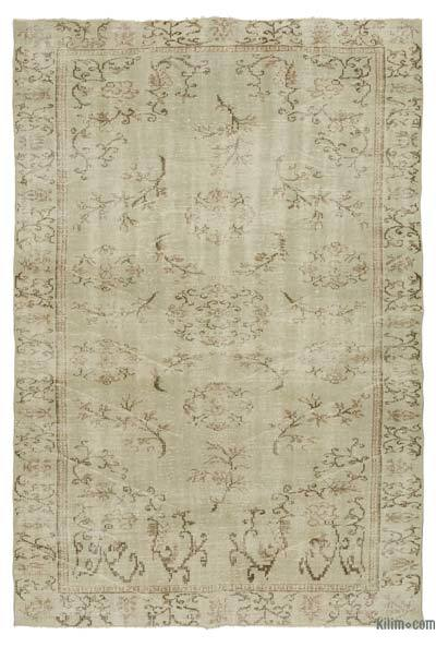 "Over-dyed Turkish Vintage Rug - 6'3"" x 9'1"" (75 in. x 109 in.)"