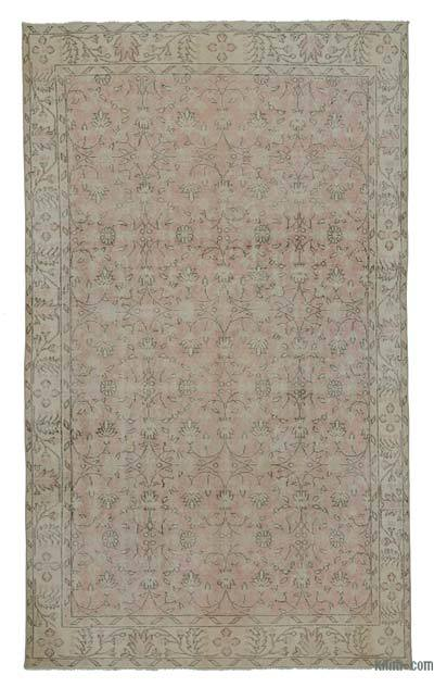 Turkish Vintage Area Rug - 5'9'' x 9'6'' (69 in. x 114 in.)