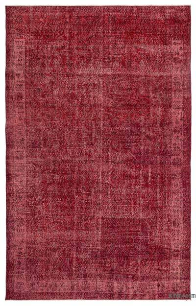 "Over-dyed Turkish Vintage Rug - 6'8"" x 10'6"" (80 in. x 126 in.)"