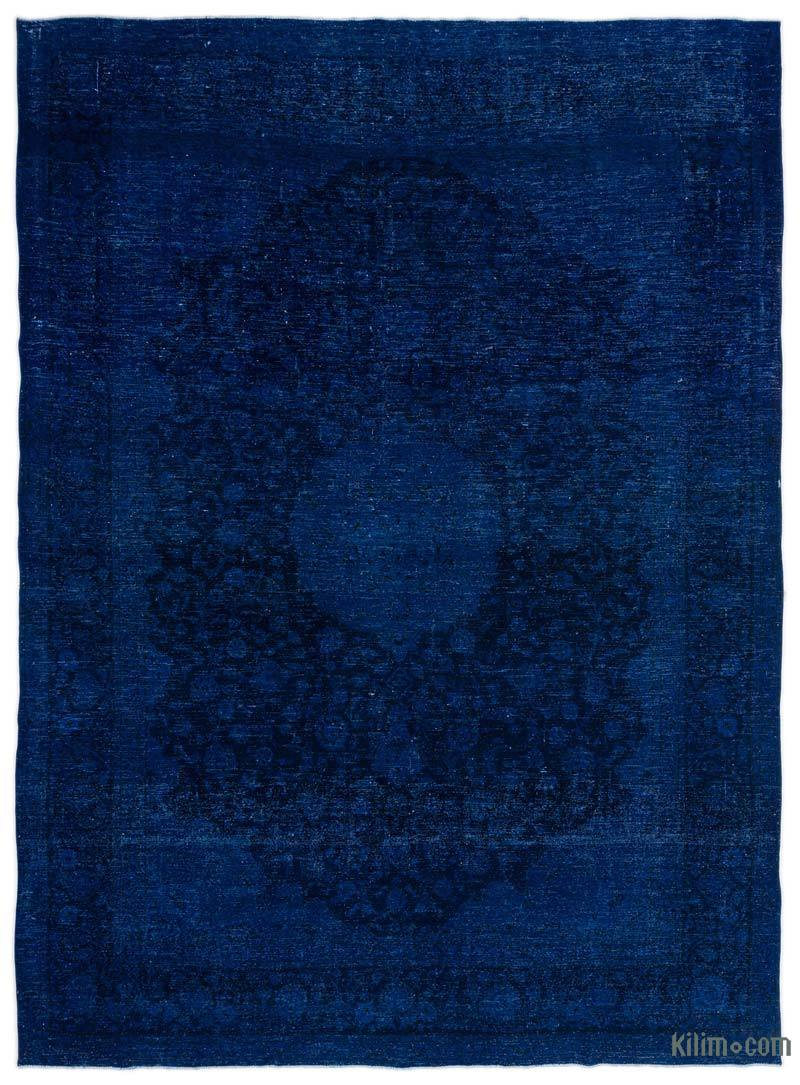 Blue Over Dyed Persian Vintage Rug