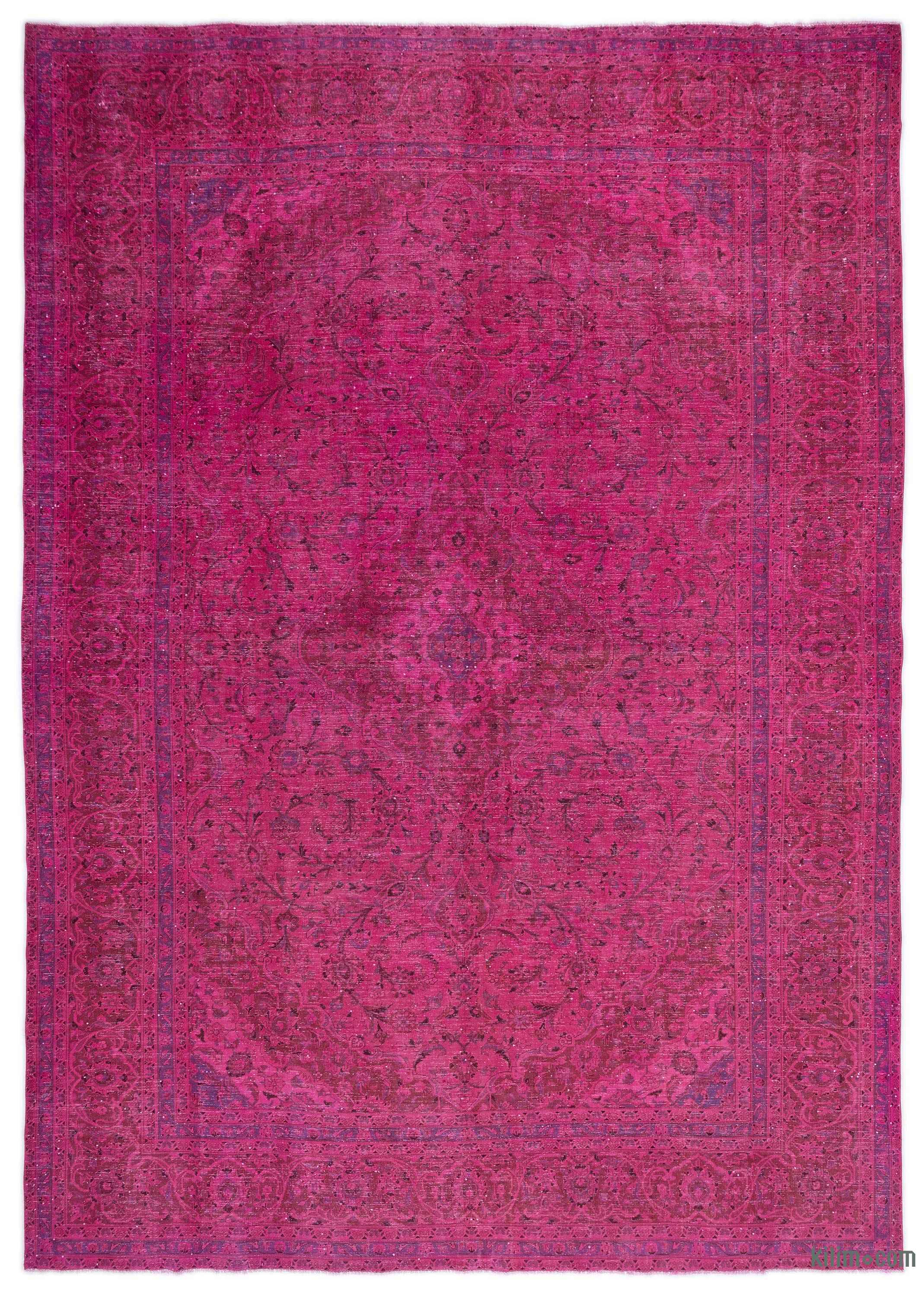 Pink Over Dyed Vintage Rug 9 3 X 13 1 111 In 157