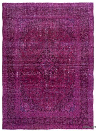 Fuchsia Over-dyed Vintage Rug - 9' x 12'10'' (108 in. x 154 in.)