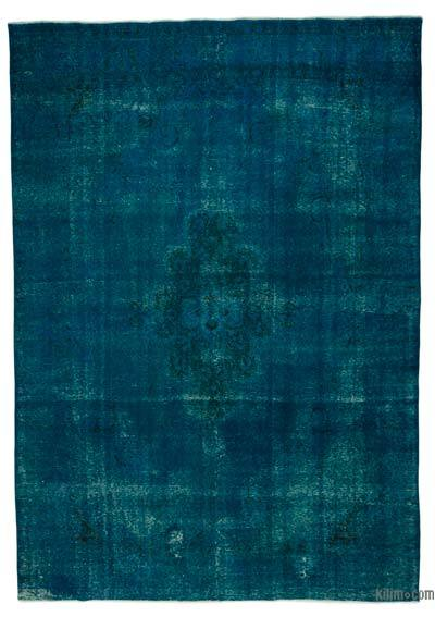 Turquoise Over-dyed Vintage Rug - 9'6'' x 13'7'' (114 in. x 163 in.)