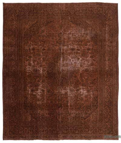 Brown Over-dyed Vintage Rug - 9'8'' x 11'6'' (116 in. x 138 in.)