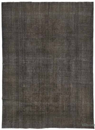 Grey Over-dyed Vintage Rug - 9'8'' x 13'2'' (116 in. x 158 in.)
