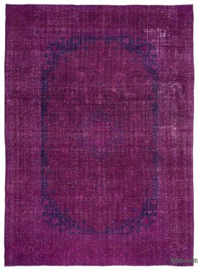Fuchsia Over-dyed Vintage Rug - 9'7'' x 13'6'' (115 in. x 162 in.)