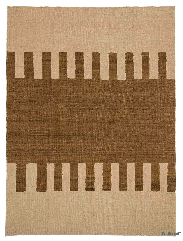 Beige Brown New Persian Kilim Rug