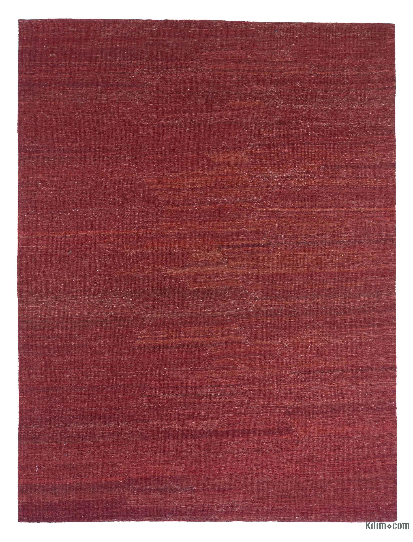red new persian kilim rug
