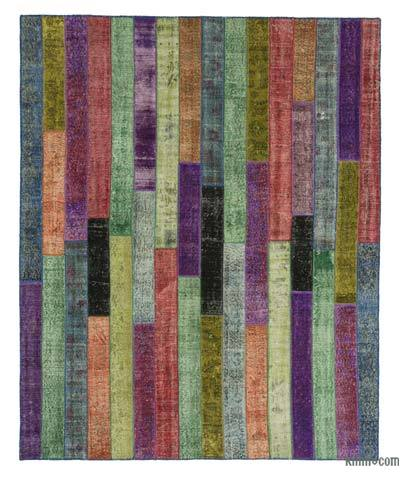 Over-dyed Turkish Patchwork Rug - 8'1'' x 10' (97 in. x 120 in.)