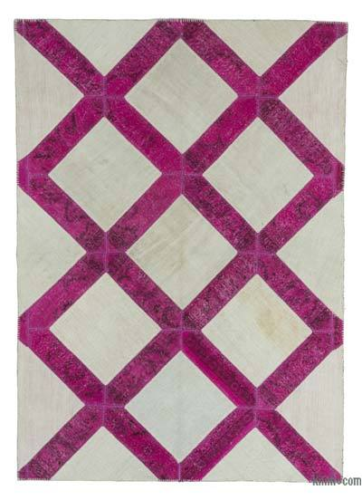 "Over-dyed Turkish Patchwork Rug - 5'8"" x 8' (68 in. x 96 in.)"