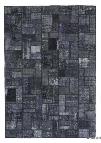 "Over-dyed Turkish Patchwork Rug - 6'9"" x 9'9"" (81 in. x 117 in.)"