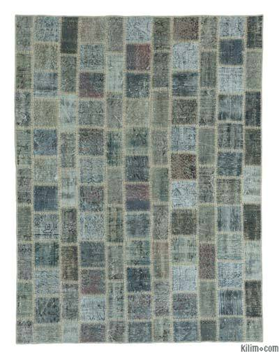 Over-dyed Turkish Patchwork Rug - 5'9'' x 7'7'' (69 in. x 91 in.)