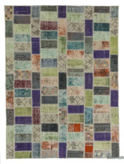 "Over-dyed Turkish Patchwork Rug - 5'11"" x 7'11"" (71 in. x 95 in.)"